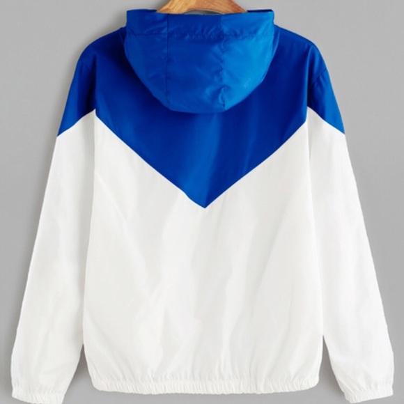 Nevera Fashion Color Block Drawstring Hooded Zipper Jacket Thin Windbreaker 2020 New Spring Fall Contrast Color Coat